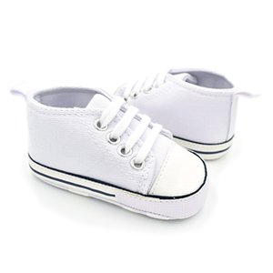 Baby Shoes Boy Girl Solid Sneaker Cotton Soft Anti-Slip Sole Newborn Infant First Walkers Toddler Casual Canvas Crib Shoes