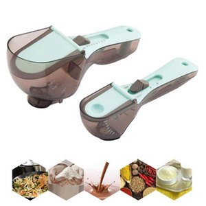 Measuring Cups Scale Measuring Spoons Baking Kitchen Tools Cuisine Accessories Adjustable Measuring Scoop With Scale Measure Cup