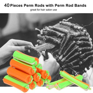 40pcs DIY Perm Rods mit Perm Rod Bands Kalte Welle Rods Perming Lockenwickler Salon Hair Roller Friseur Styling-Werkzeug