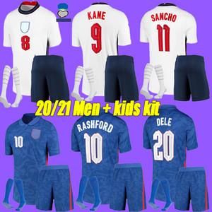 hommes + kids kit 2020 maison Angleterre de Football Maillots À l'extérieur 20 21 loin kane STERLING SANCHO Rashford DELE inglaterra chemisettes
