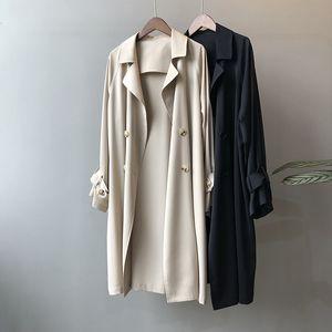 2020 Sonbahar Yeni Moda Bayan WINDBREAKER Kadınlar Casual Ofis Lady Vahşi Retro Suit Hendek Coat Bygouby