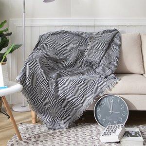 Перевозка груза падения 130 * 180см / 180 * 230cm Геометрия Throw Одеяло Чехол Cobertor для плоских путешествия диван-кровать Одеяло