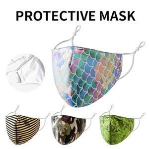 Bling Bling Fashion Face Mask Dustproof Breathable Protective Cotton Mask Adjustable Reusable Masks DHC1341
