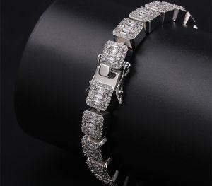 Luxury Designer Hip Hop Jewelry Mens Bracelets Diamond Tennis Bracelet Bling Bangle Iced Out Chains Charms Rapper Fashion22