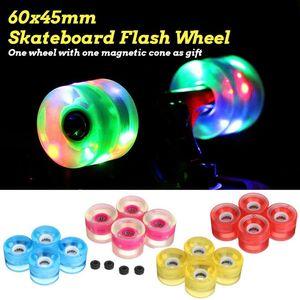 4pcs Skateboard Flash Roller Wheel Penny board LED Light Wheel DanceBoard 75A 60X45mm Longboard Double Rocker Flashing
