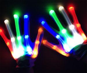 قفازات الإضاءة LED وامض تأثيري الجدة القفازات، وأدى ضوء لعبة البند لحزب هالوين شحن مجاني