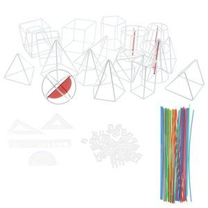 18pcs Геометрия Формы Рама Модель Набор с поперечным сечением и вспомогательной линии, Math исследование средней школы геометрических тел модели Наглядные игрушки
