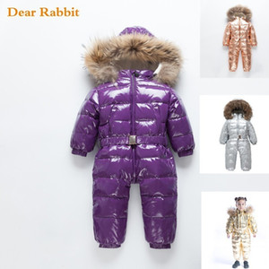 -30 Russian Winter coat Baby Snowsuit 90% Duck Down Jacket Outdoor Infant Ski Clothes Girls clothing For Boys Kids Jumpsuit 2~8y