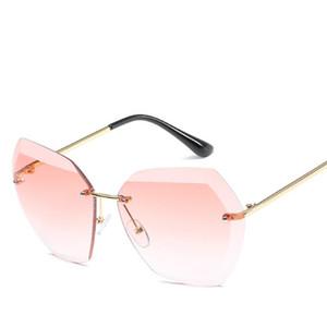 2020 Hohe Qualität Fashiion Stil Randlose Sonnenbrille Für Frauen Sonnenbrille Weibliche Vintage Fahrer Sonnenbrille Dame Sonnenbrille Für Frauen