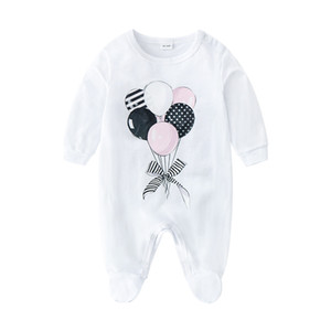 Retail baby rompe 6 colors infant long sleeve climbing clothing one-piece onesies jumpsuits rompers children boutique clothes kids design