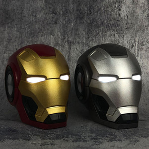 Mobile phone Speakers Bluetooth V4.2 Iron Man Bluetooth Speaker Subwoofer With FM Radio Support TF Card For Phone PC Speaker 10pc