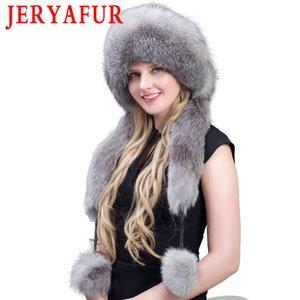 JERYAFUR Reality Lady Silber Lei Feng-Winter-warmer Hut Dickes Fell Mao-Pelz-5