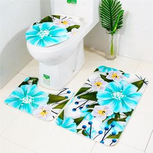 Mats 3pcs Grip Set Decoration New Bath Bathroom Bathroom Home Suction Mat Accessories Non-slip Carpet Doormats Flannel Non-slip sweet07 juzw