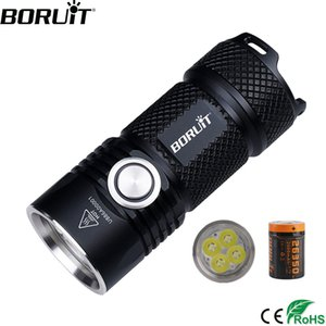 BORUiT BC15 4*XPG3 3000LM Powerful LED Flashlight USB Rechargeable 26350 6-Mode Super Bright Torch for Camping Mountaineering Y200727