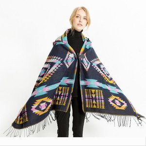 Designer Mingjiebihuo New European and American folk style cape air conditioning shawl travel scarf woman gilrs Autumn And Winter fashion