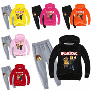 2-14 t Teen Clothing Set Roblox Hoodies Sweatshirts+ Pants Kids Clothes Set Cartoon Battle Boys Girls Cool Tracksuit