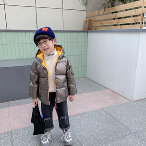2020 new children's down jacket medium and large children small silver men space thickened small and medium children baby boys and girls7KC5