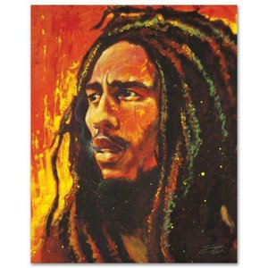 Stephen Fishwick Bob Marley Decoração Artesanato / HD impressão pintura a óleo sobre tela Wall Art Canvas Pictures 200918