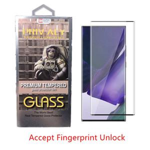 حالة الزجاج المقسى ل S10 ملاحظة 10 20 Ultra Samsung Galaxy S10E S20 حامي الشاشة 5D التغطية الكاملة لمس فتح أي ثقب