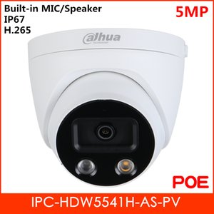 Pro-AI Series 5MP IR Eyeball Network IP Camera Built-in MIC and Speaker H.265 IR Distance 50m Support SD Card