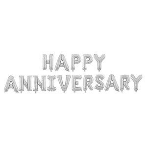 16 inch Happy Anniversary Balloon Set congratulations HAPPY ANNIVERSARY Aluminum Film Balloon Set dhl