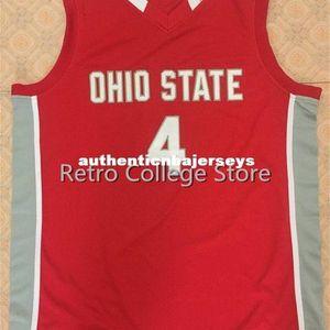 Ohio State Buckeyes # 4 Аарон Крафт ретро Баскетбол Джерси All Размер вышивки прошитой Настроить любое имя и имя XS-6XL жилет трикотажные