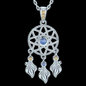 SG Fashion 925 Sterling Silver Dreamcatcher Pendant chain Necklaces jewelry making gifts for women free shipping