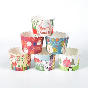 Festa do casamento de papel do queque 50pcs dos desenhos animados Copa gorduras bonito Cupcake Wrapper papel manteiga Cup Cupcake Liners VT1634