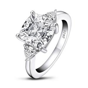 QYI Обручальное кольцо Улучшенный SONA камень белого золота цвета 925 серебряные кольца Sterling для женщин в зацеплении