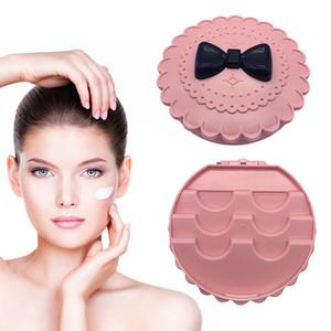 Plastic Fake Eyelash Storage Box Pink Flower Bow Pattern False Eyelash Carry Case Makeup Cosmetic Case Organizer 1PC
