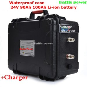 24V 100AH 90Ah Solar energy lithium battery pack 29.4V lipo li-ion for bicycle Car Yacht 1800w e bike + 10A charger