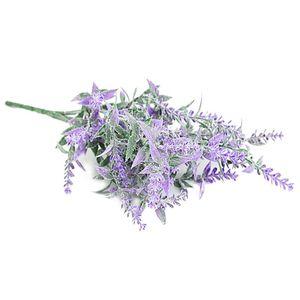 Artificial Flower Home Decorative Fake Lavender Flower Wedding Party Event Floral Decor, Purple
