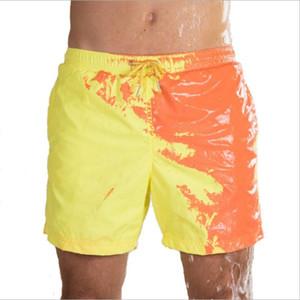 Color changing New  mens Swimwear mens  Sexy Swim Boxer Shorts creative Beachwear Shorts Maillot De Bain beach wear New