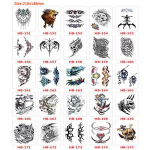 100X faux tatouages temporaires épaule du bras inférieur Transfert Tatouage noir autocollant Totem Hot Sexy Men Vaporiser Tatto imperméable Designs T200908