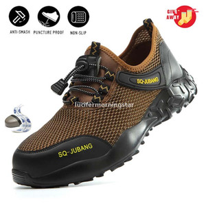 A005 DHL 2020 Summer Breathable Men Work Shoes Women steel toe Caps Safety Shoes Kevlar Midsole Outdoor Sneakers lekkie HOCOCAL FV3072