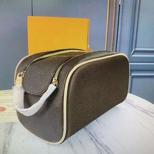 M47528 أفضل نوعية التجميل حقيبة المرأة جلدية سستة أكياس ماكياج الأزياء مخلب حقيبة الحالات النساء أدوات الزينة أطقم الحقيبة المنظم حقيبة
