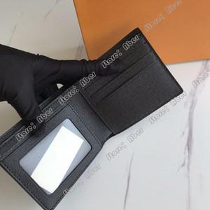 Excelente Monedero alta calidad Portefeuille 9 Folio Billetera para hombre Titular Luxurys tarjeta monedero Monederos Los diseñadores de las mujeres Monedero M60930 múltiple