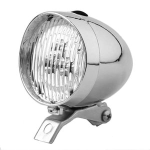Classic LED Vintage Bike Headlight Bicycle Retro Head Light Front Fog Lamp Bicycle Lights Black Silver