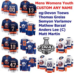 2020 Islanders de New York Stanley finale de la Coupe Hockey Jersey Scott Mayfield Casey Cizikas Michael Dal Colle Adam Pelech Ryan Pulock point personnalisé