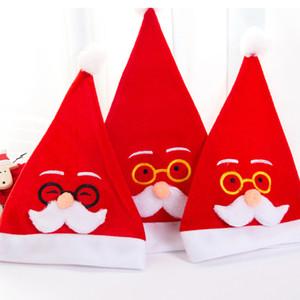 TTLIFE Нового год Толстые плюш Рождество Hat Детские Новогодние украшения для подарков Санта-Клауса теплой зимы мягких Плюшевых Hat украшения