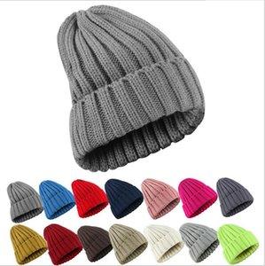 بيني النساء 2021 الصلبة محبوك دافئ لينة العصرية القبعات بسيطة الكورية نمط المرأة الصوف عارضة قبعات أنيقة كل مباراة قبعة