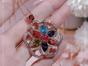 Fashion trend high-end temperament Red necklace Ms. The banquet The dance party Free shipping high11
