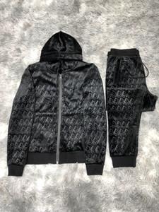 Suit Hip Hop Spor 20ss Tasarımcı Eşofman Erkekler Lüks Ter Suits Sonbahar Marka Erkek Jogger Suit Ceket + Pantolon takımları Yüksek Kalite ayarlar