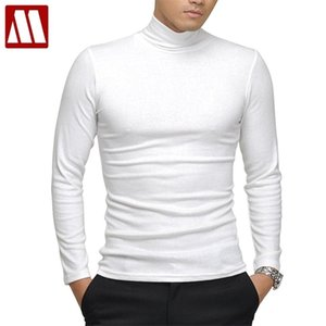 100% quality Men's long-sleeve T-shirt Sexy turtleneck high-elastic lycra cotton t shirt 7 colors S-XXXL st-803 Free shipping 0921