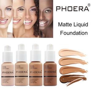 hotsale PHOERA Matte Liquid Foundation Makeup Full Coverage Flawless Long Wear Soft Matte Oil Control 10 colors Foundation