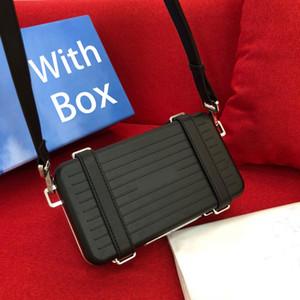 kutusu moda erkek ve kadın tasarımcılar bavul çerçeve flep crossbody çanta omuz çantası yüksek kaliteli deri alüminyum alaşım oluğu seyahat