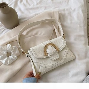 Small PU Leather Shoulder Bags for Women New Stone Pattern Female Handbags Big Lock Solid Color Ladies' Travel Armpit Tote Bags