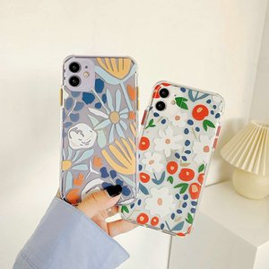 New Soft Silicone TPU Garden Floral Style Flower Mobile Case For iPhone 11 Pro Max SE XR XS Max 6G 7 8 Plus