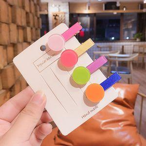 New Korean Children Beautiful Colorful Hairpins Baby Girls Sweet Hair Clip Barrettes Headband Kids Fashion Hair Accessories