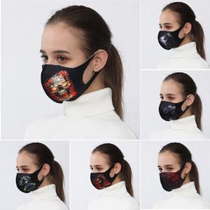 Новый защитной маска Хэллоуиной череп монстр лед шелк многозонные печати анти-смога дышащих масок атмосфера ужаса мужчин и женщины маска